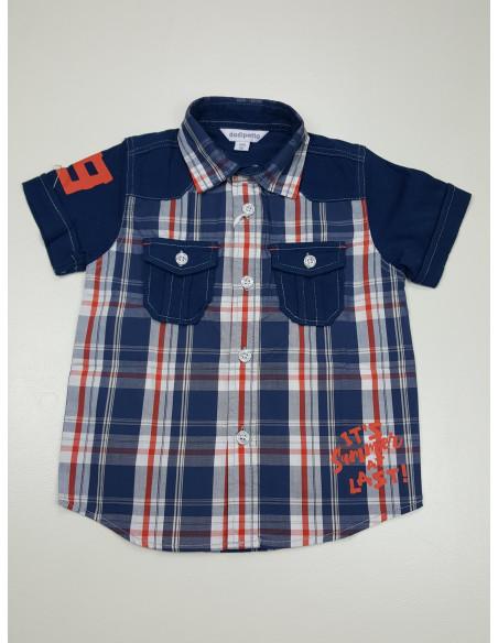 camicia mezza manica neonato