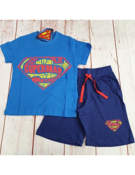 completo jersey di cotone SUPERMAN bimbo
